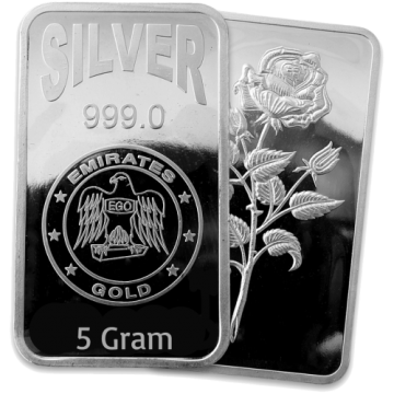 5 Grams Silver Bar