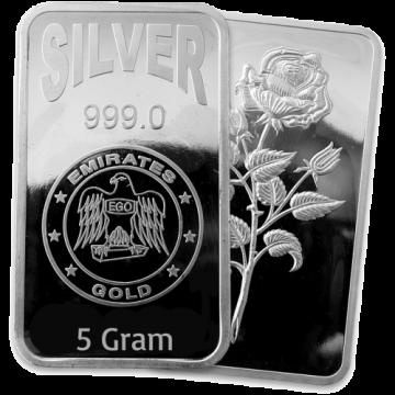 5 Grams Silver Bar