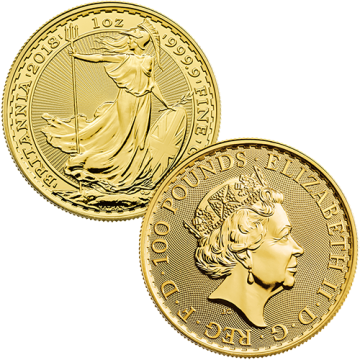 24k 1 Ounce British Gold...