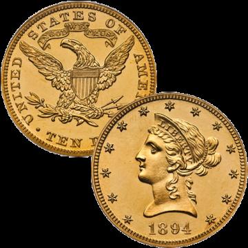 21k Liberty $10 Gold Coin