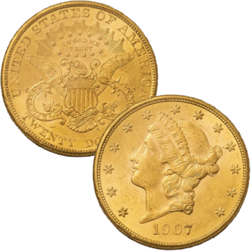 21k Liberty $20 Gold Coin