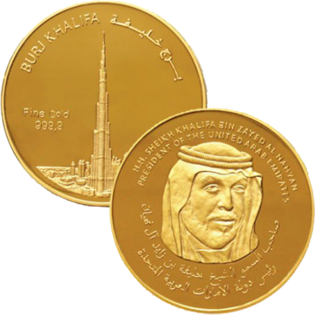 1/2 Ounce Burj Khalifa Gold Coin
