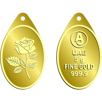 5 Grams Oval Anjali Gold Bar