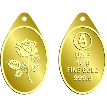 10 Grams Oval Anjali Gold Bar