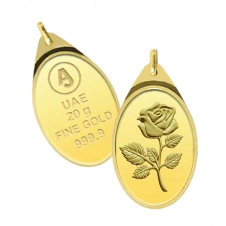 20 Grams Anjali Gold Oval Pendant
