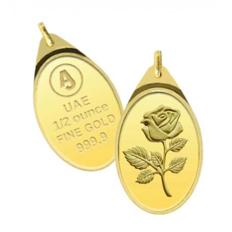 1/2 Ounce Anjali Gold Oval Pendant