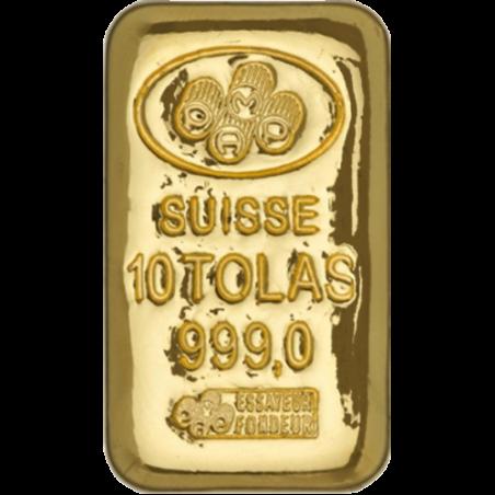 Swiss Ten Tolas Gold Bar